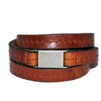 wikkelarmband-bruin