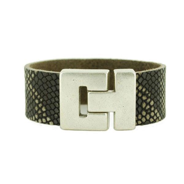 dames-armband-python-zwart