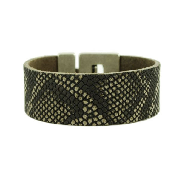 dames-armbanden-python-zwart
