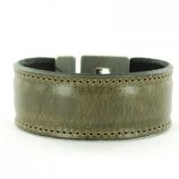armbanden leer grijs