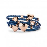 Blauw-Leren-Armband-met-Hartjes