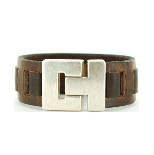 Leren-Gevlochten-Armband