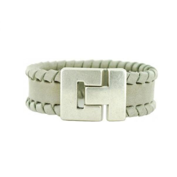 Leren-Gevlochten-Armbanden-Grijs