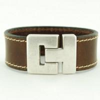 leren armband donker bruin-624