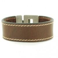 leren armbanden donker bruin-625