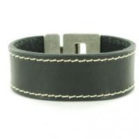 leren armbanden zwart met stiksels-621