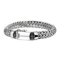 Trendy-Gevlochten-Zilveren-Dames-Armband
