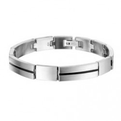 Armband Staal Schakel mat-poli