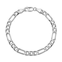 Zilveren-armband--figaro-schakel.