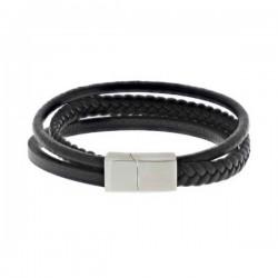 leren-wikkelarmband-stalen-sluiting-zwart