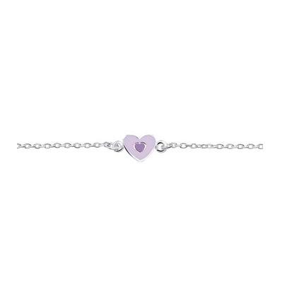 zilveren-armbandje-paars-hartje